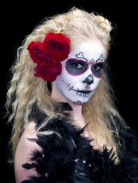 4348070-portrait-of-a-scary-woman-wearing-sugar-skull-make-up